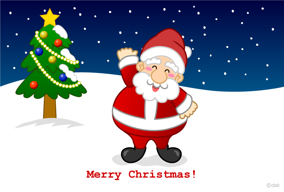 Cheerful Santa Christmas card