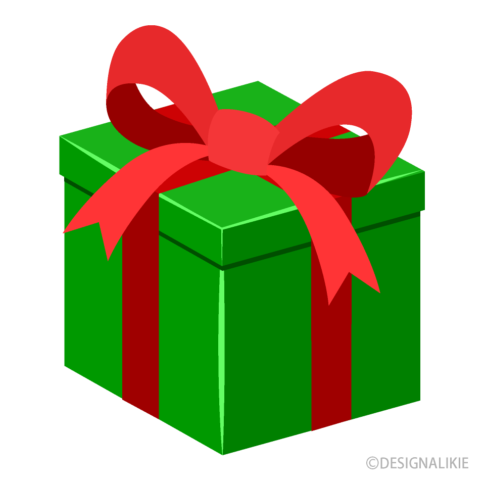 Green Gift Box Clipart