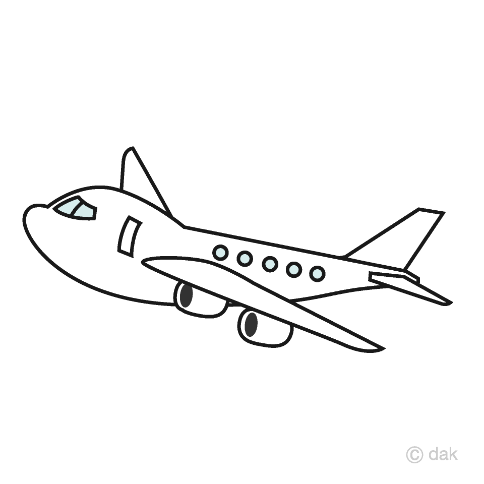 Airplane cute. Clipart free picture illustoon