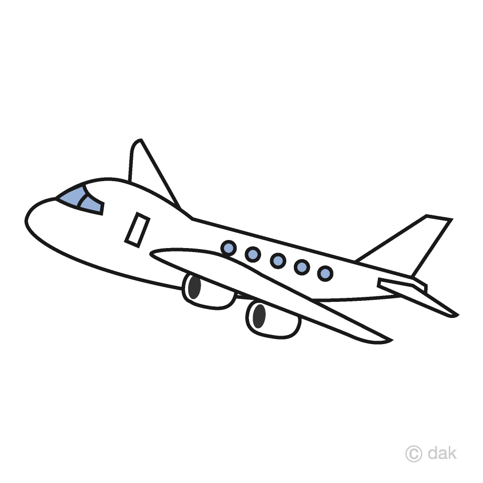 Airplane white. Simple clipart free picture