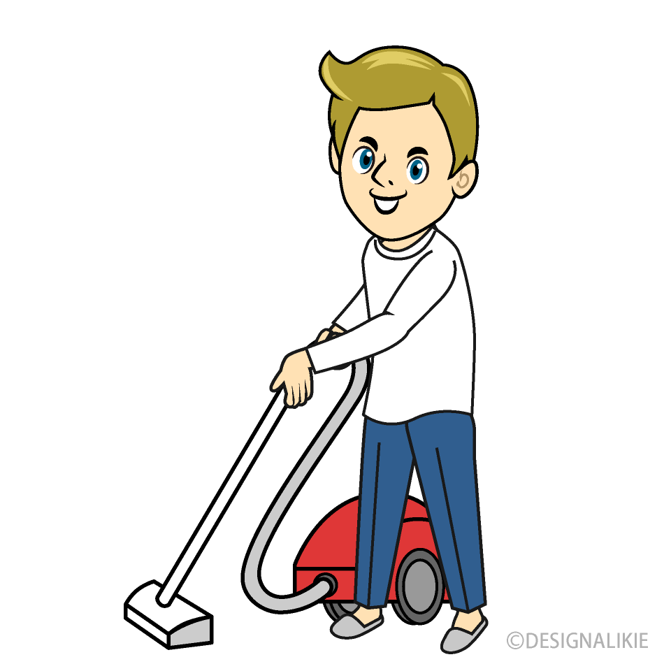 Man To Vacuum Clipart Free Png Image Illustoon