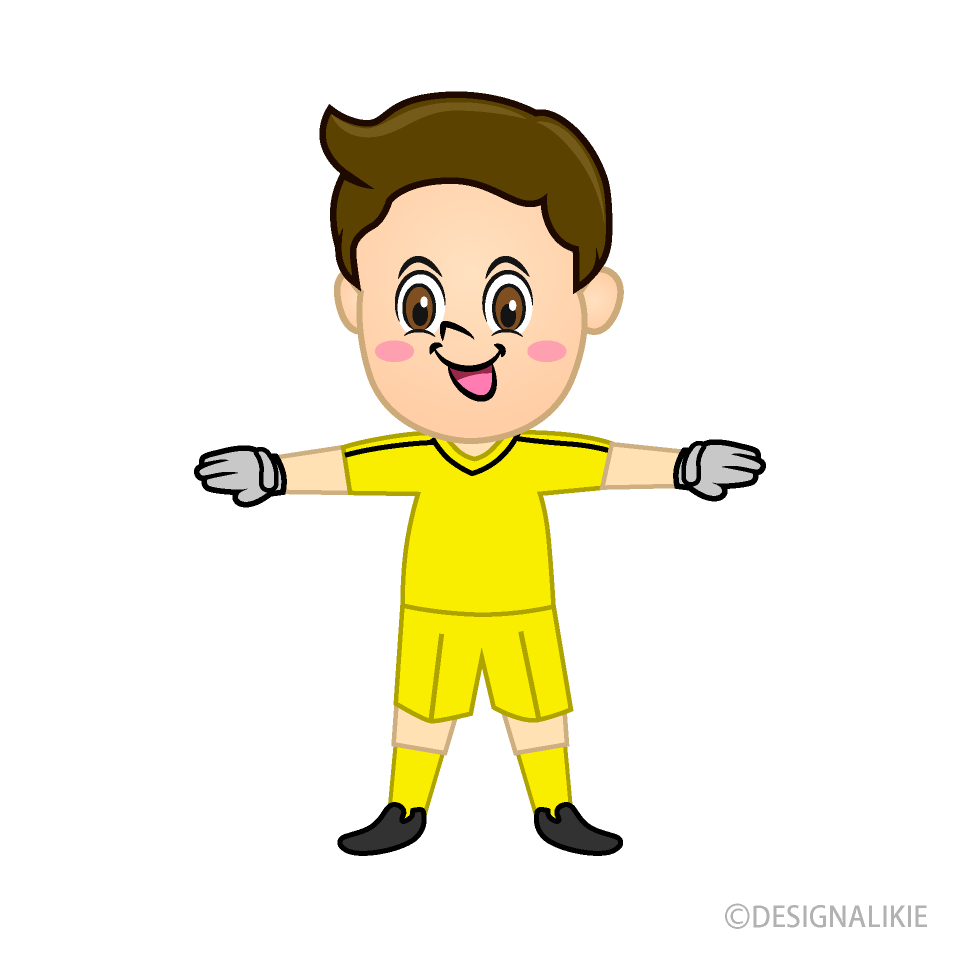 Smiling Boy Goalkeeper
