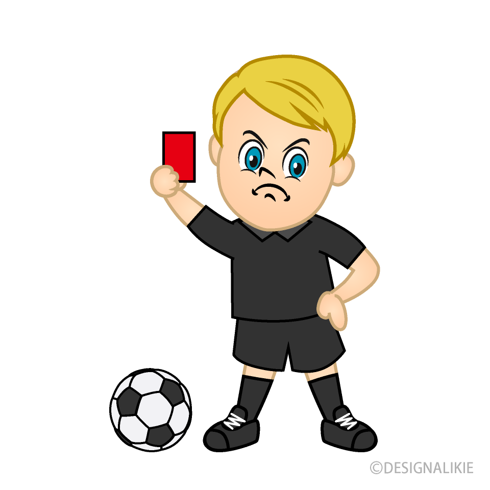 Referee Warning with Red Card