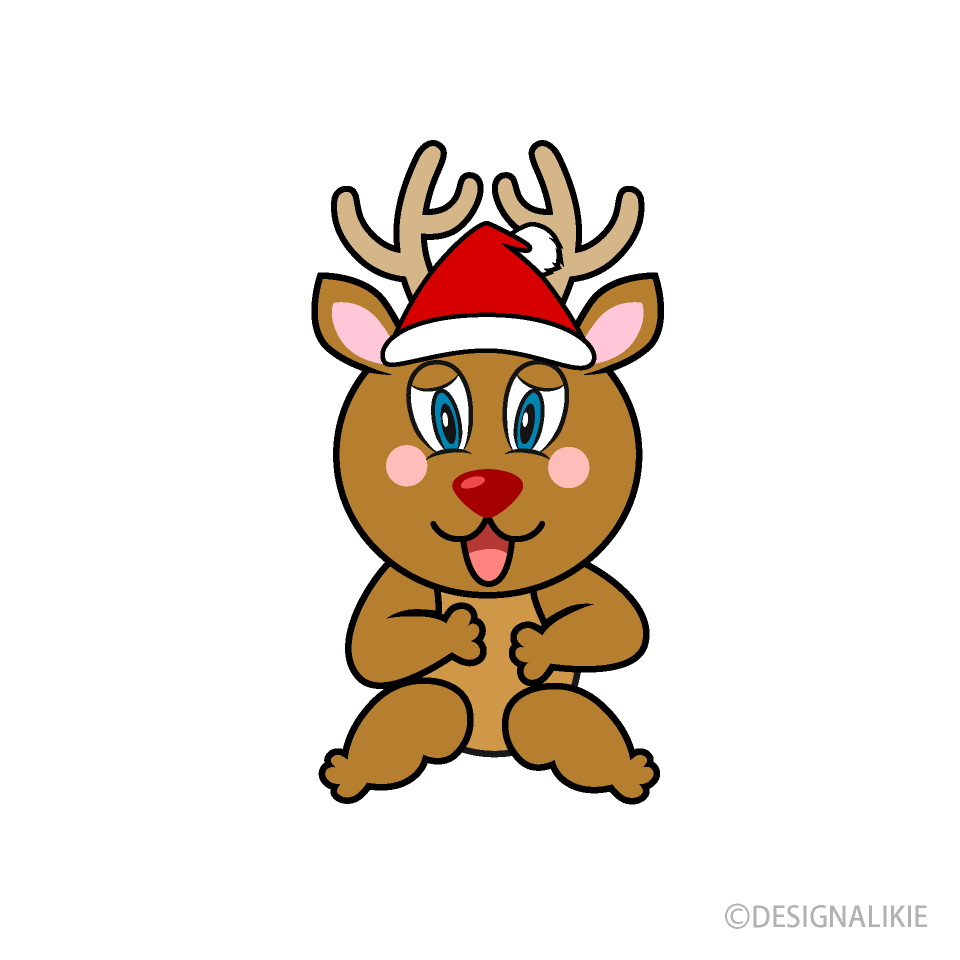 Laughing Reindeer Cartoon