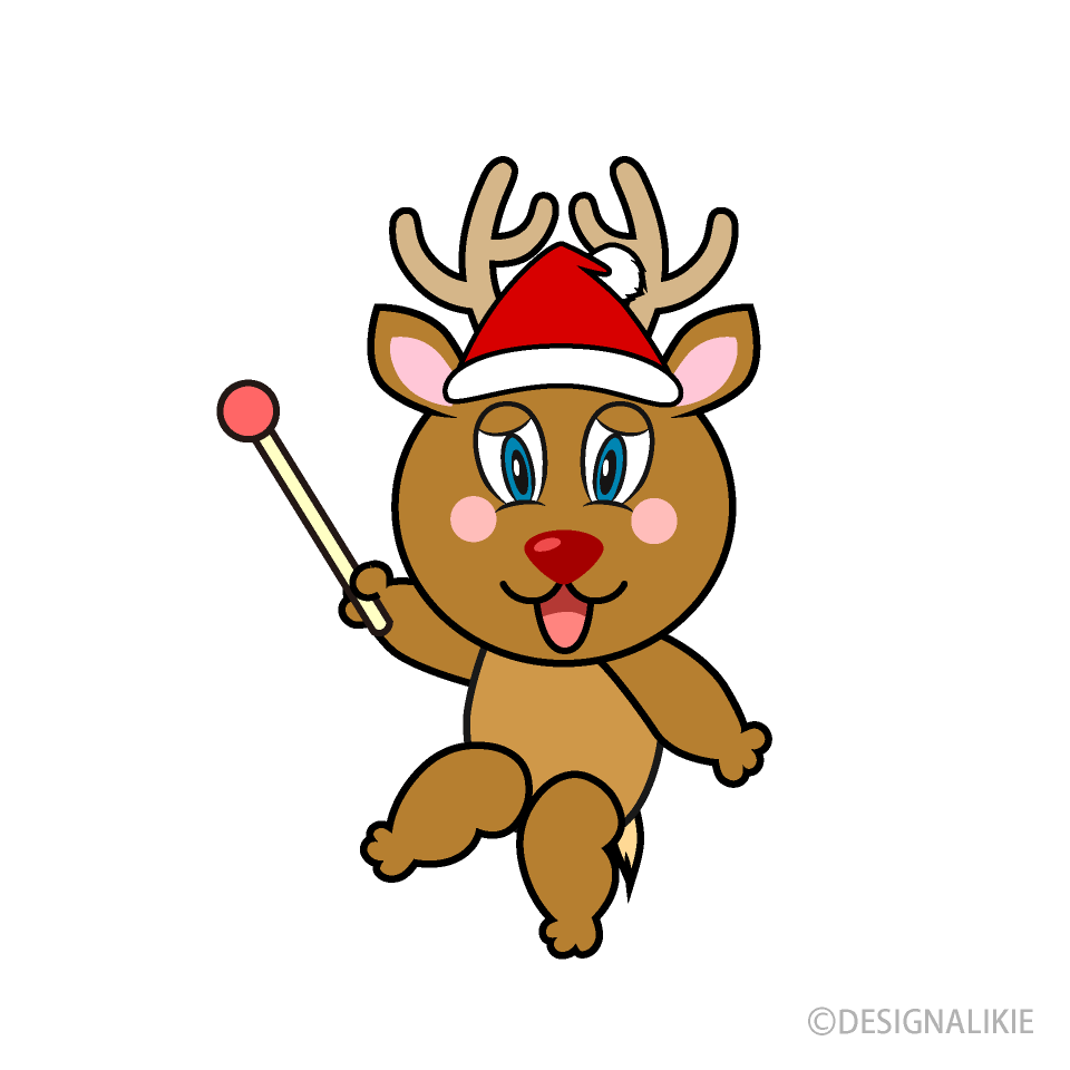Pointing Reindeer Cartoon