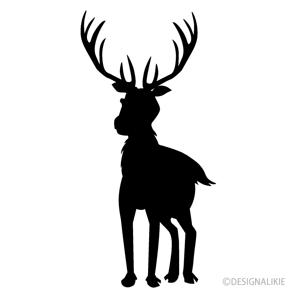 Reindeer from Front Silhouette