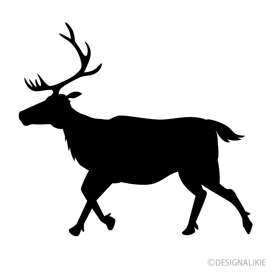 Walking Reindeer Silhouette