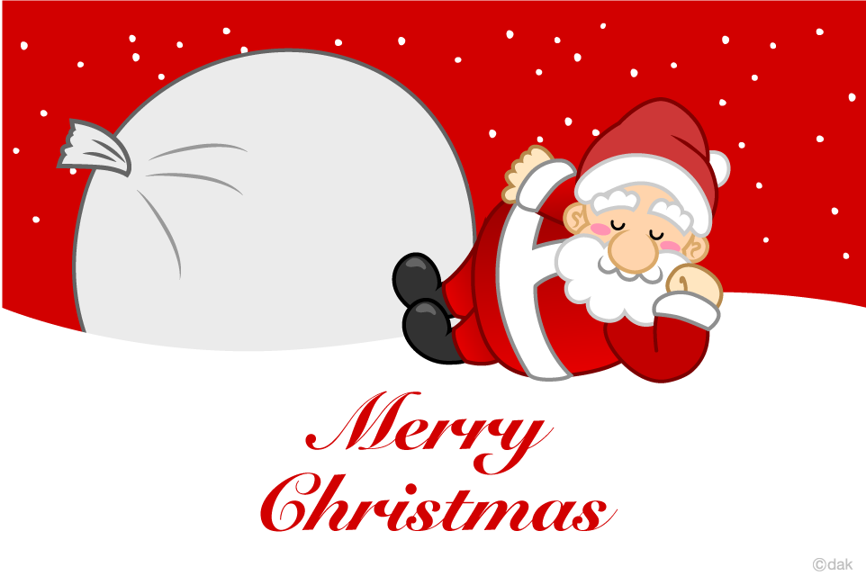 Sleeping Santa Christmas Card
