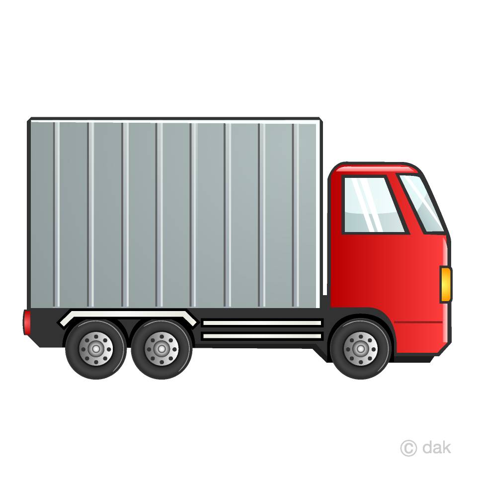 Red Container Truck Clipart Free Png Image Illustoon