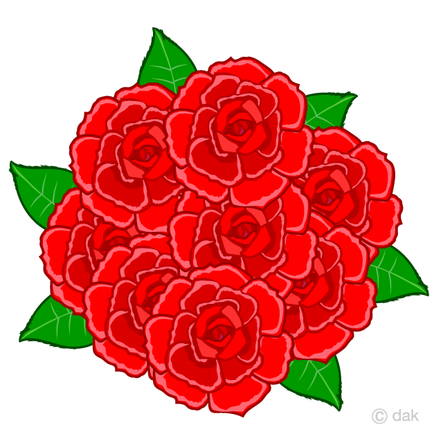 Many Red Rose Clipart