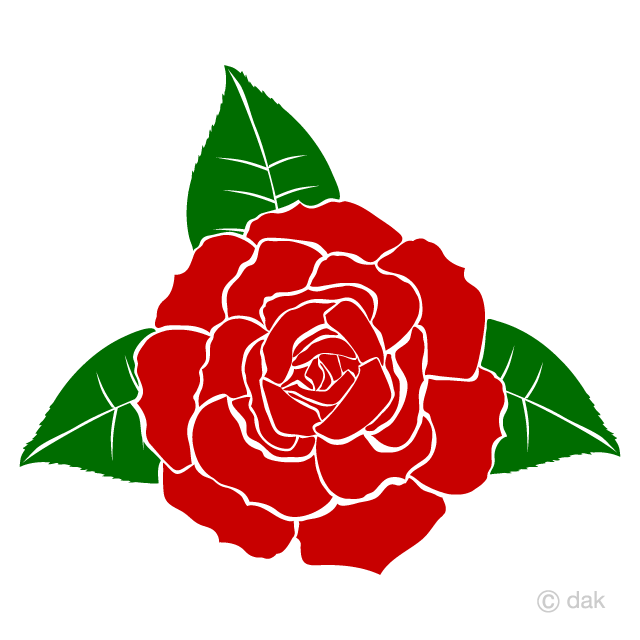 Red Rose Silhouette Clipart