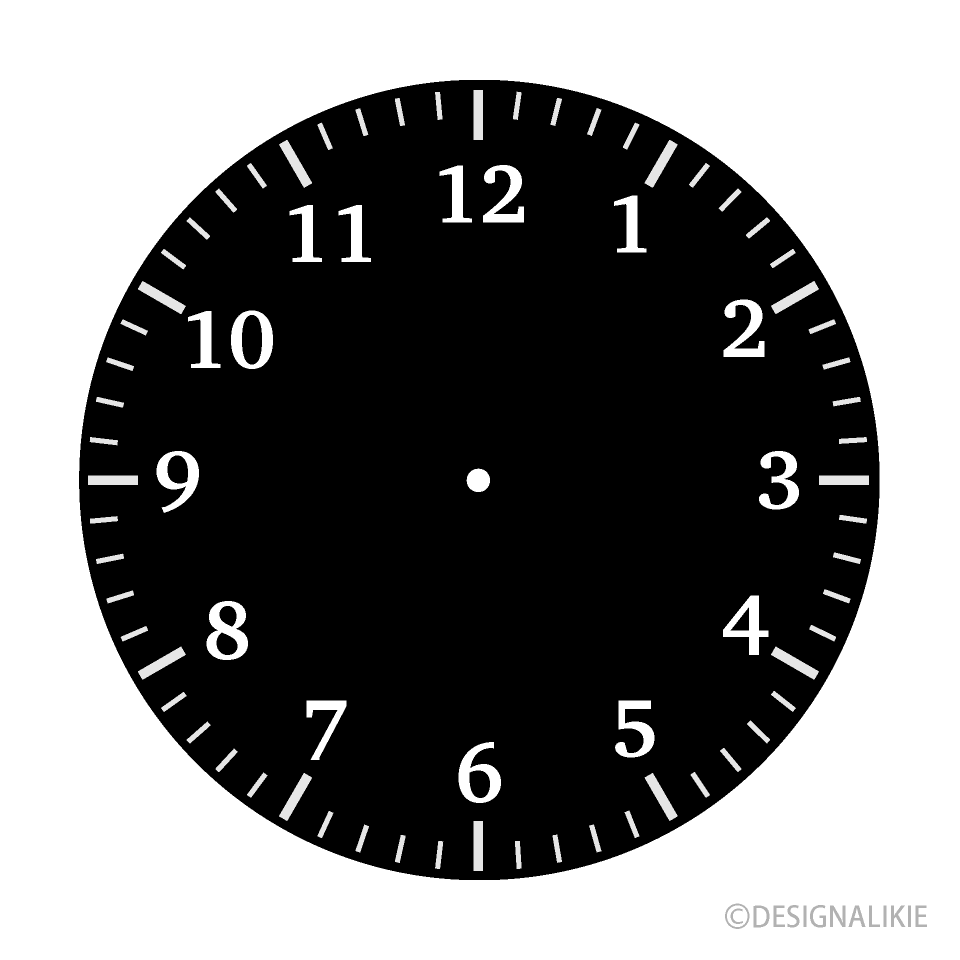 Black Clock Face Clipart