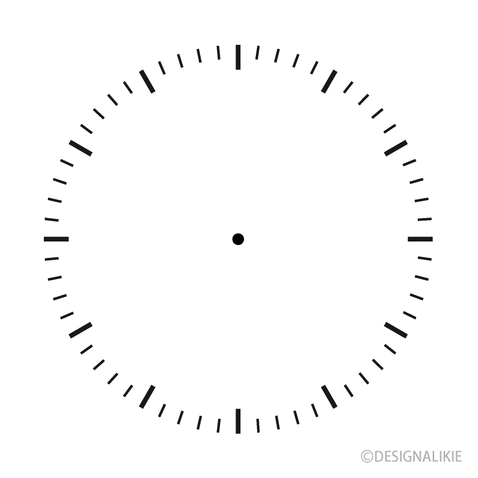 Clock Face only Scale Clipart