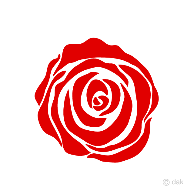 Only Simple Red Rose Flower