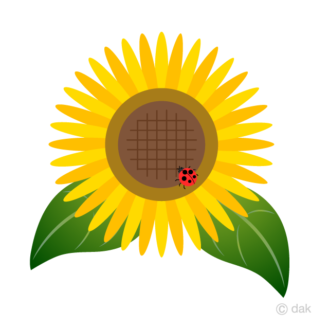 Sunflower and Ladybug Clipart