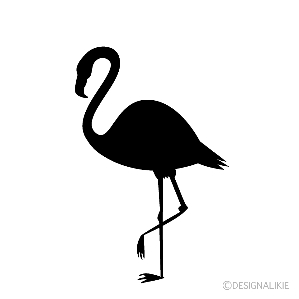 Standing Flamingo Silhouette