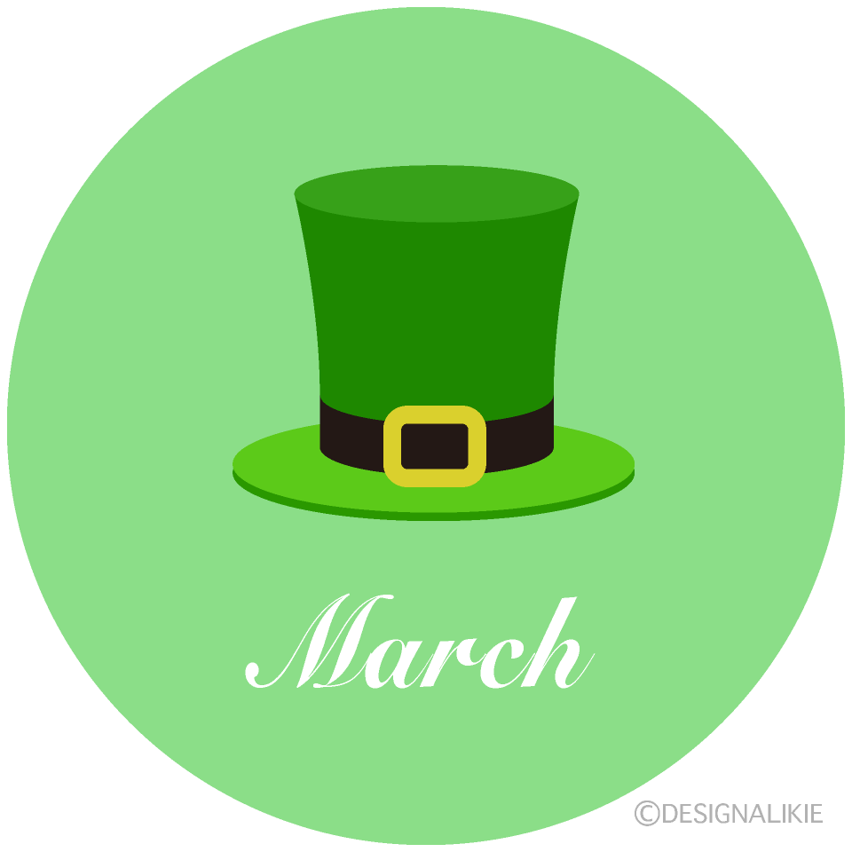 Green Hat March Clipart