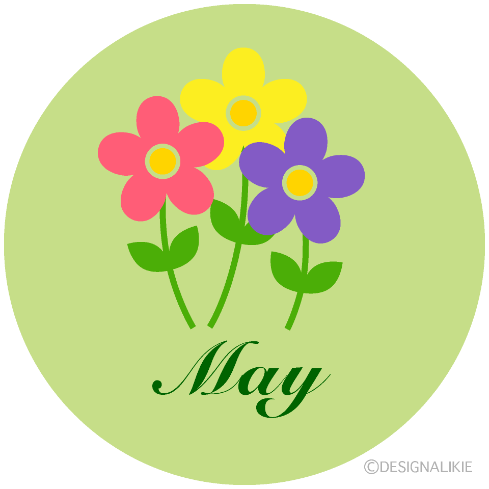 Cute Flowers May Clipart