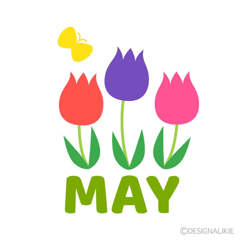 Tulips May Clipart
