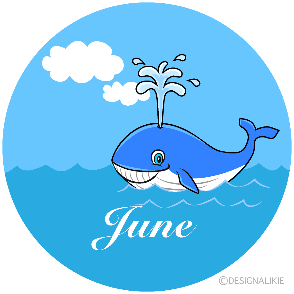 Whale June Clipart