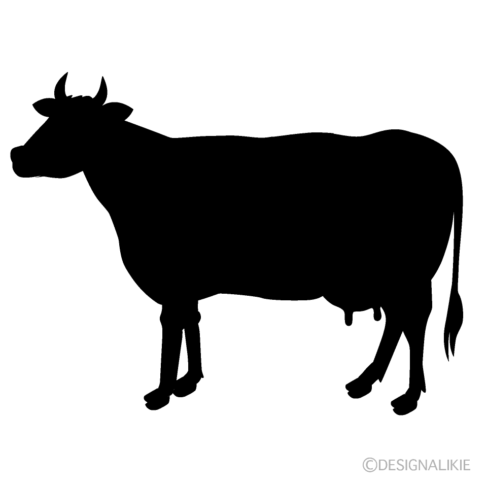 Cow Silhouette Free PNG Image|Illustoon