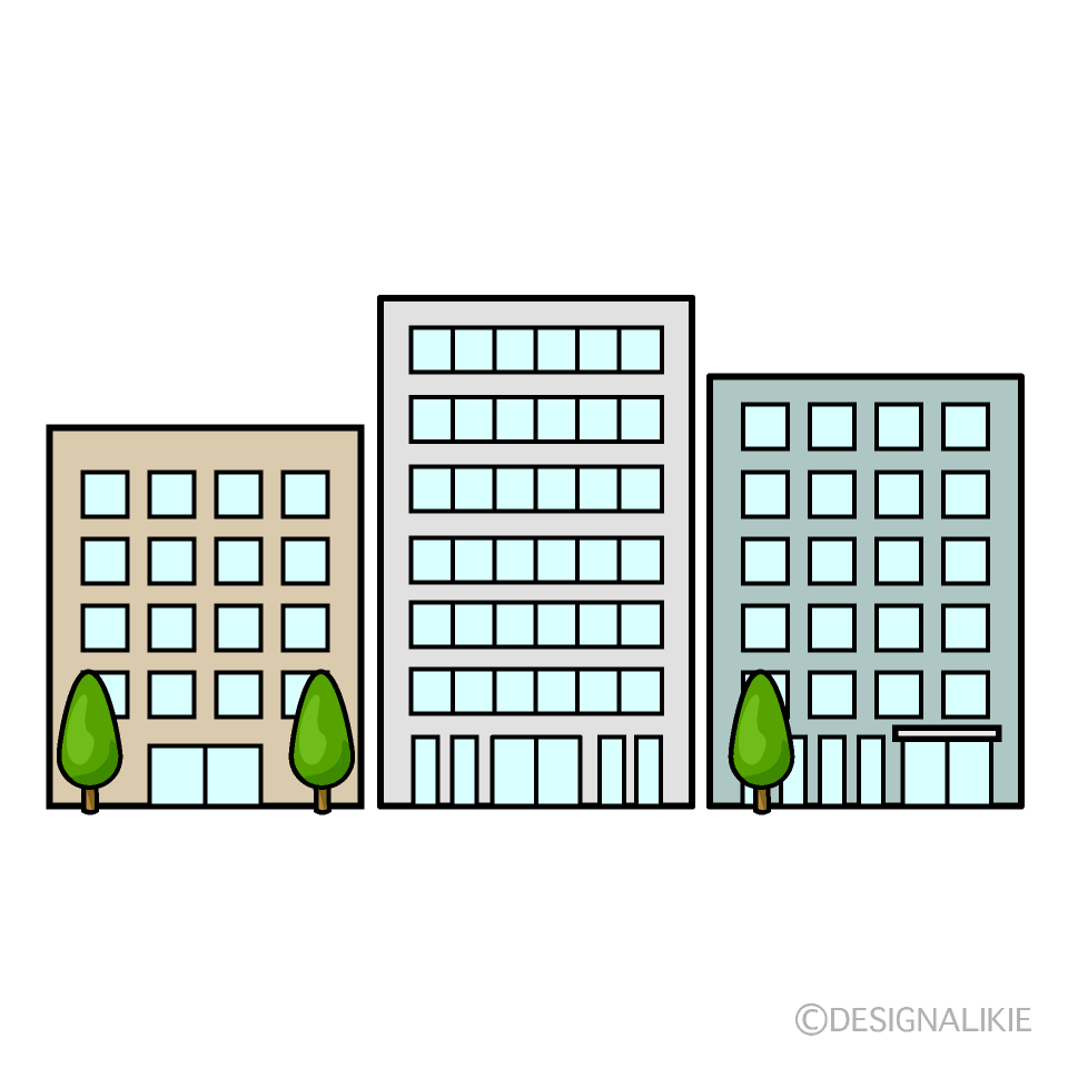 Buildings from Front Clipart