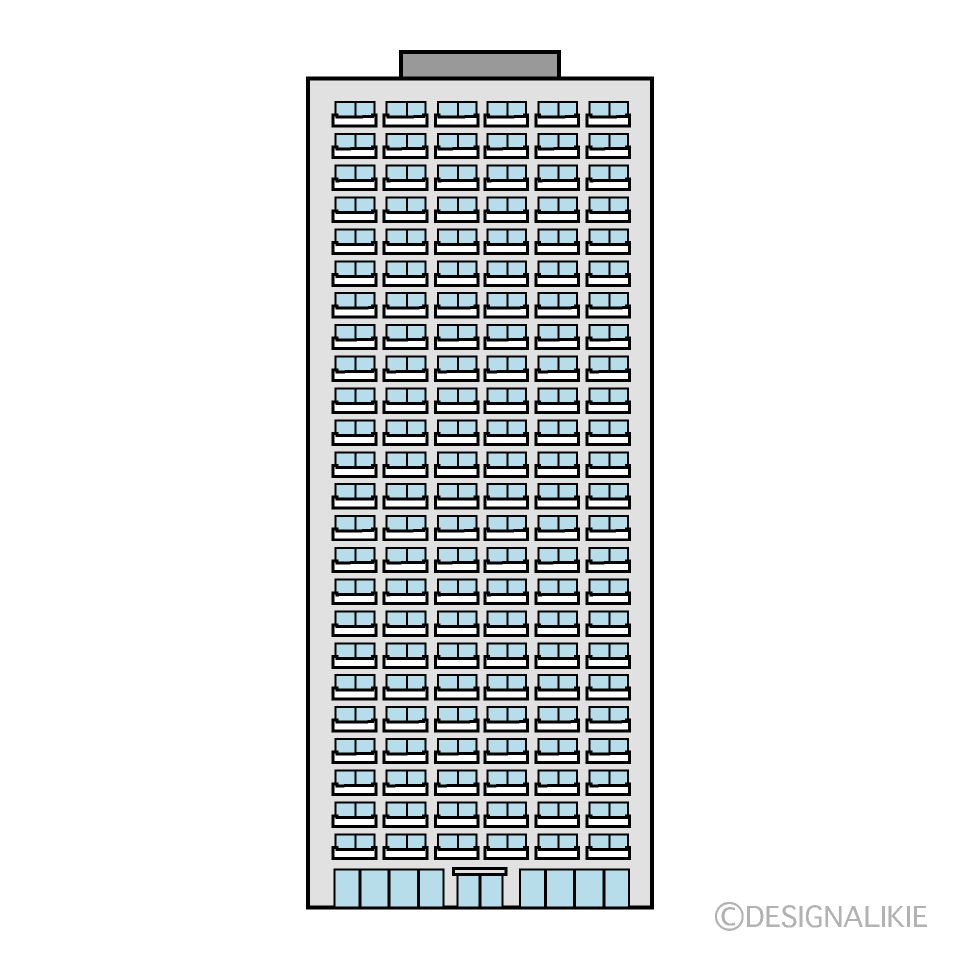 High-Rise Apartment Building Clipart
