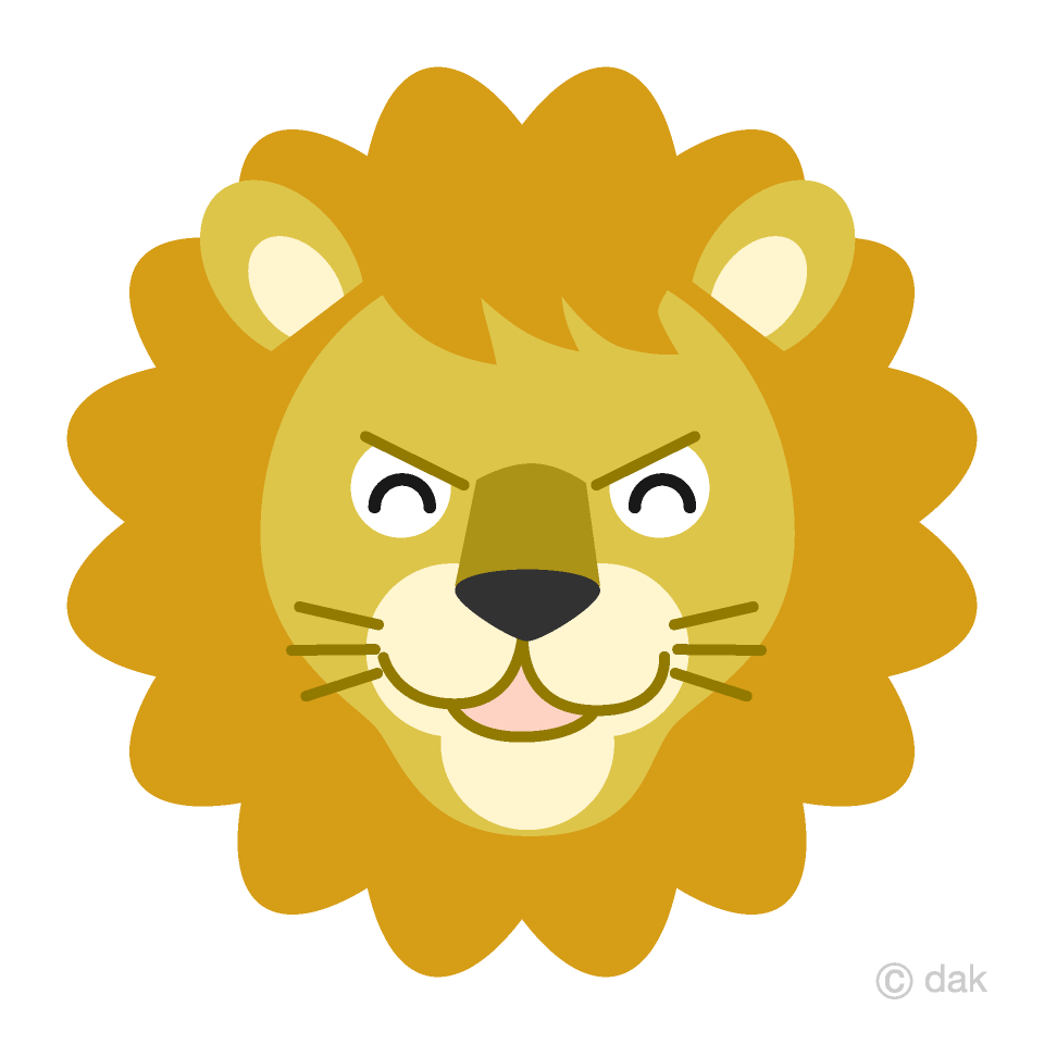 Lion angry. Smile face clipart free
