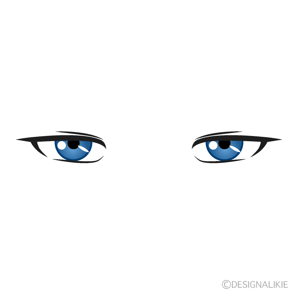 Cool Blue Eyes Free Png Image Illustoon