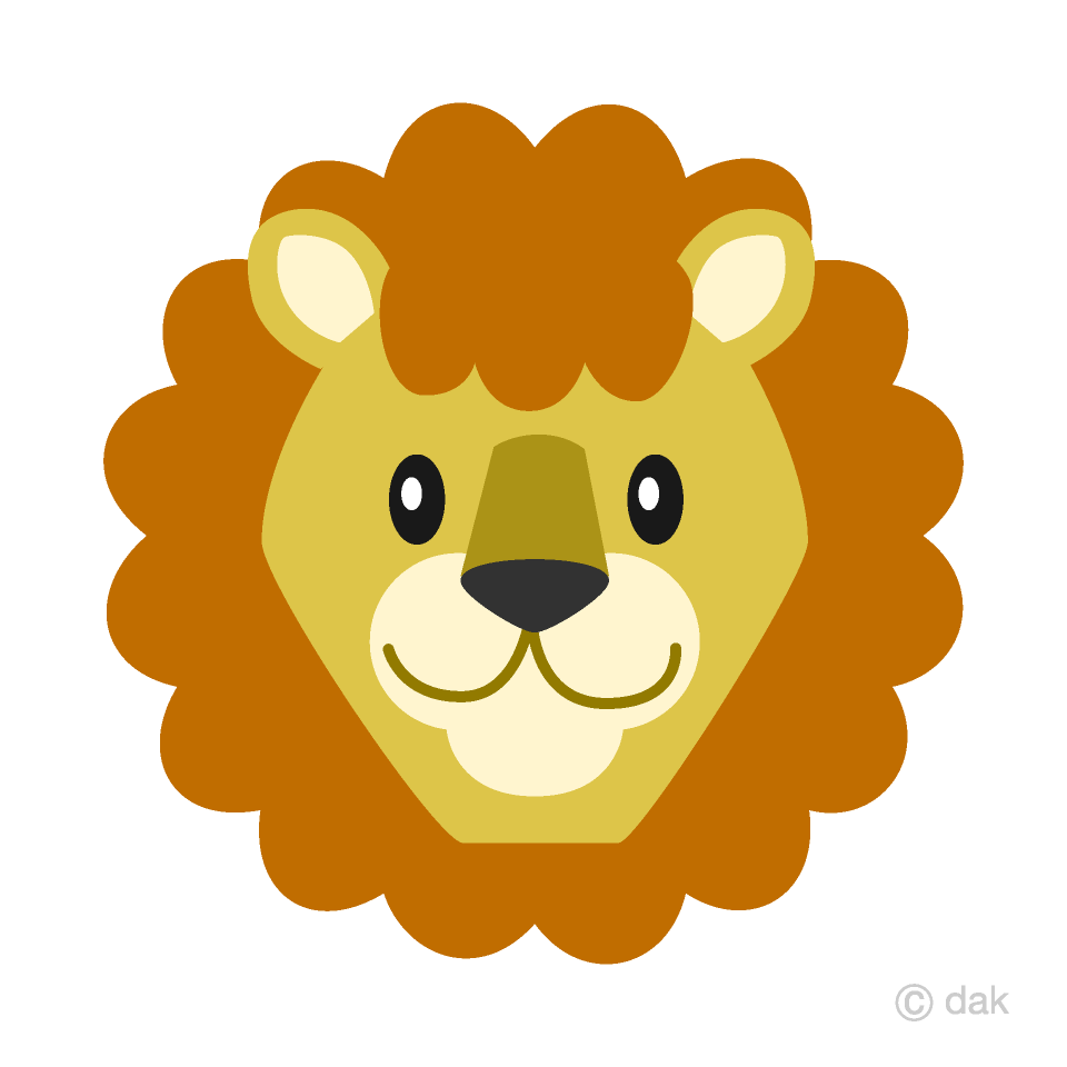 Simple Lion Face Clipart