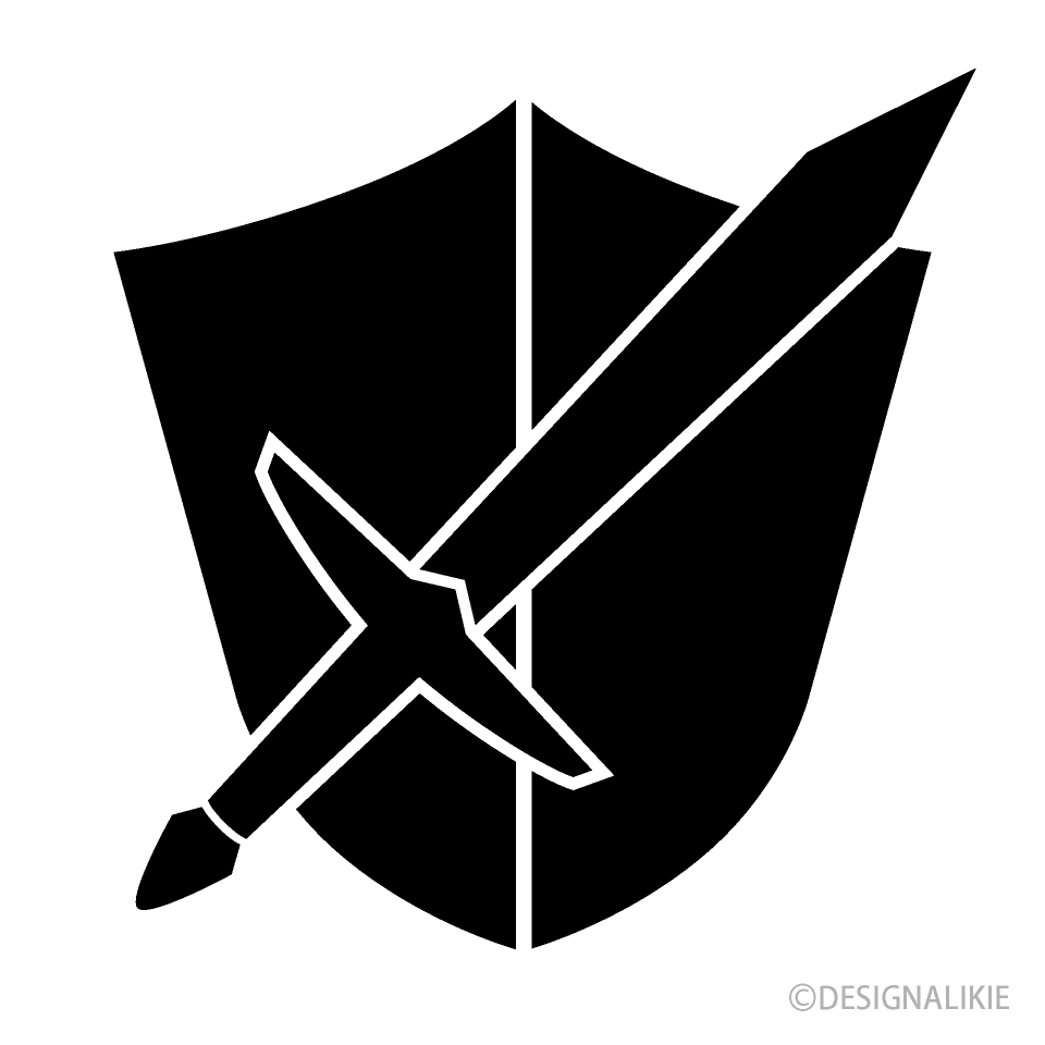 Shield and Sword Silhouette