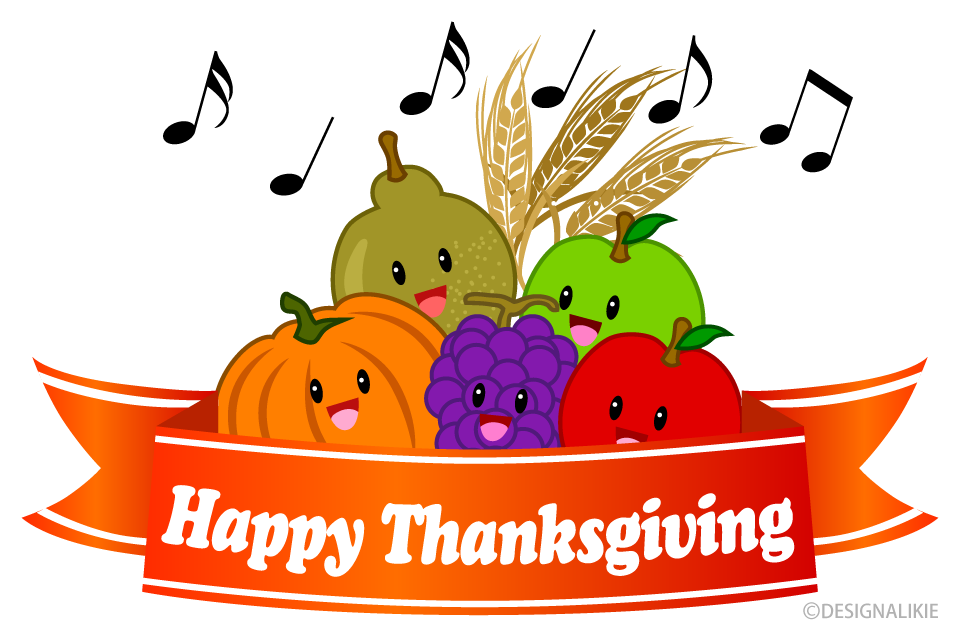Happy Thanksgiving with Singing Fruits