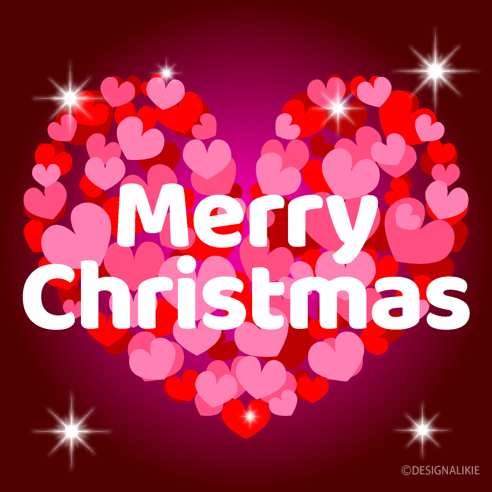 Heart Merry Christmas Greeting