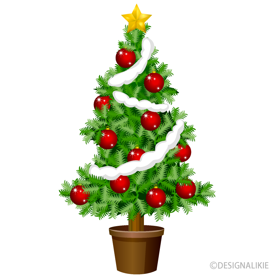 Christmas Tree with Red Ornament