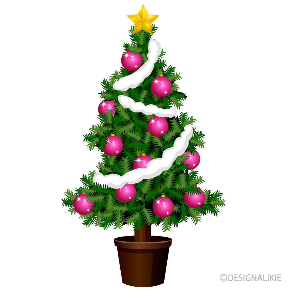 Christmas Tree with Pink Ornament