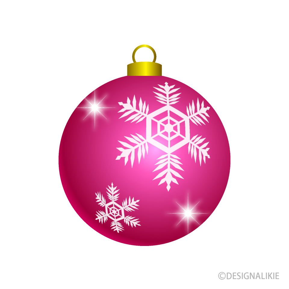 Pink Christmas Ornament