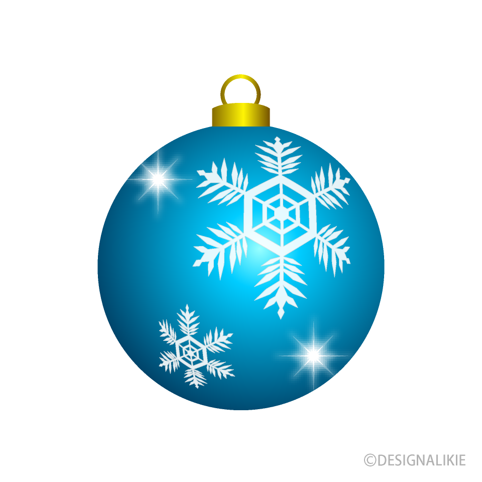 Light Blue Christmas Ornament