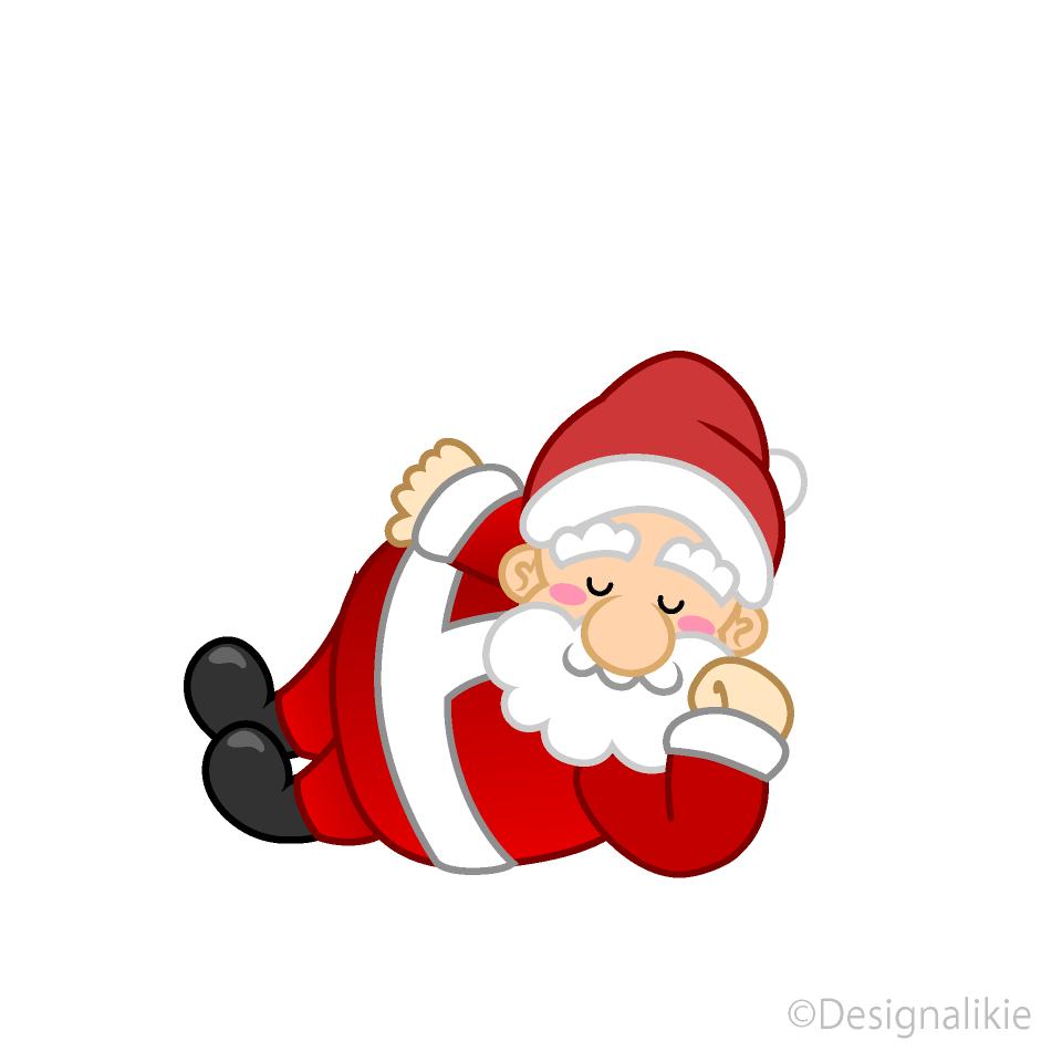 Santa sleeping. Clipart free picture illustoon