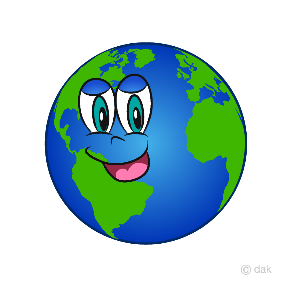 Earth Cartoon Character