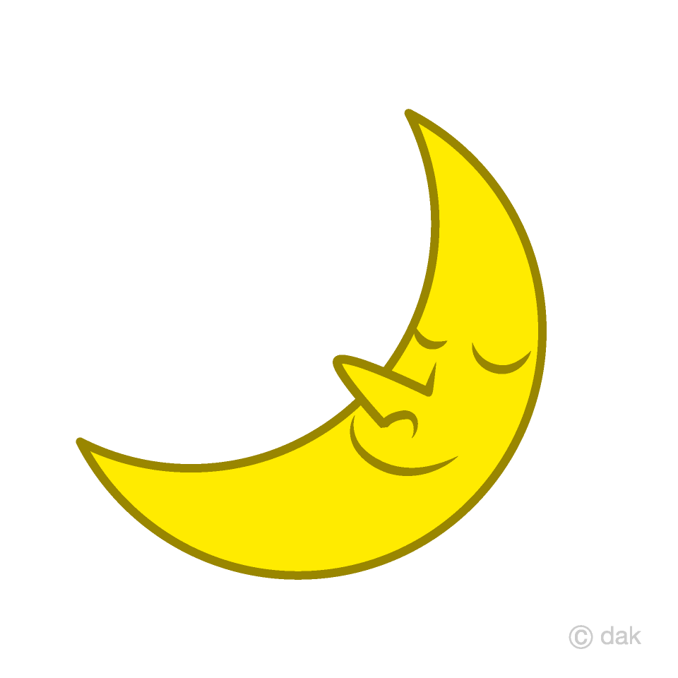 Moon sleeping. Crescent clipart free picture