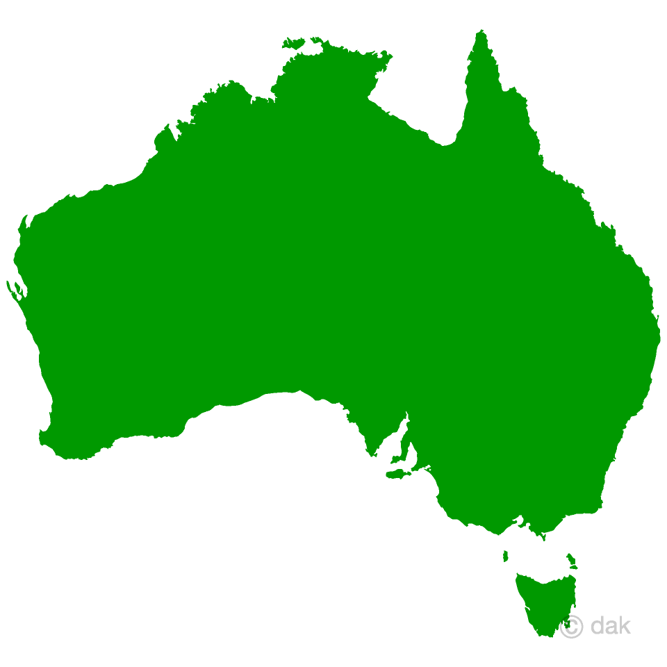 Australia Map Free Picture|Illustoon
