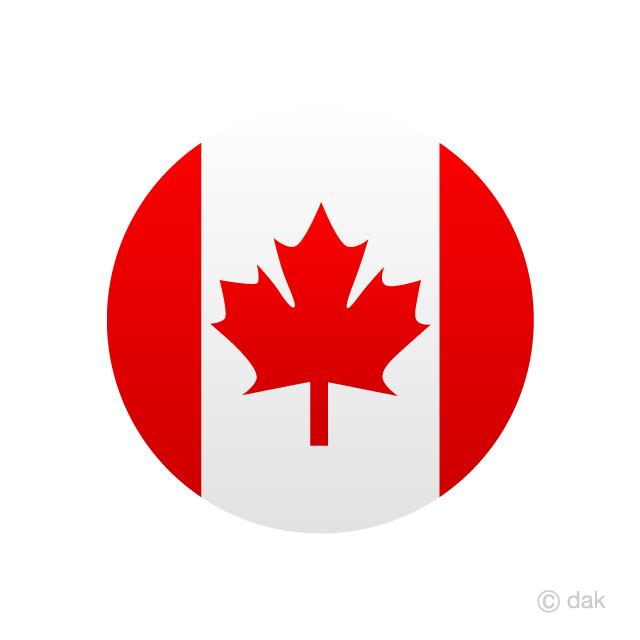Canada Circle Flag Free PNG Image Illustoon