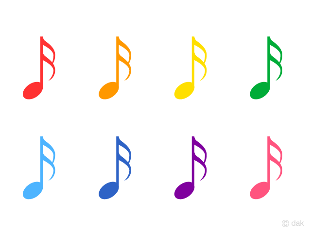 Colorful Sixteenth Notes