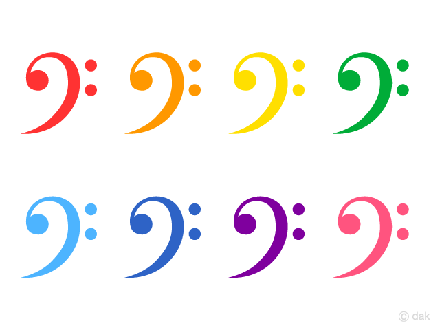 Colorful F Clef