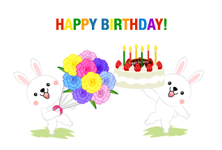 Rabbit party Happy birthday