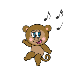Dancing Monkey Clipart