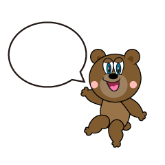 Speaking Bear Cartoon