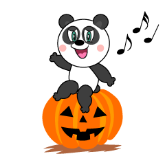Halloween Panda Cartoon