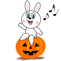 Halloween Rabbit Cartoon