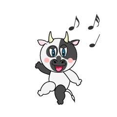 Dancing Cow Cartoon